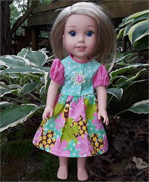 Bright Pink And Green Dress Fits Wellie